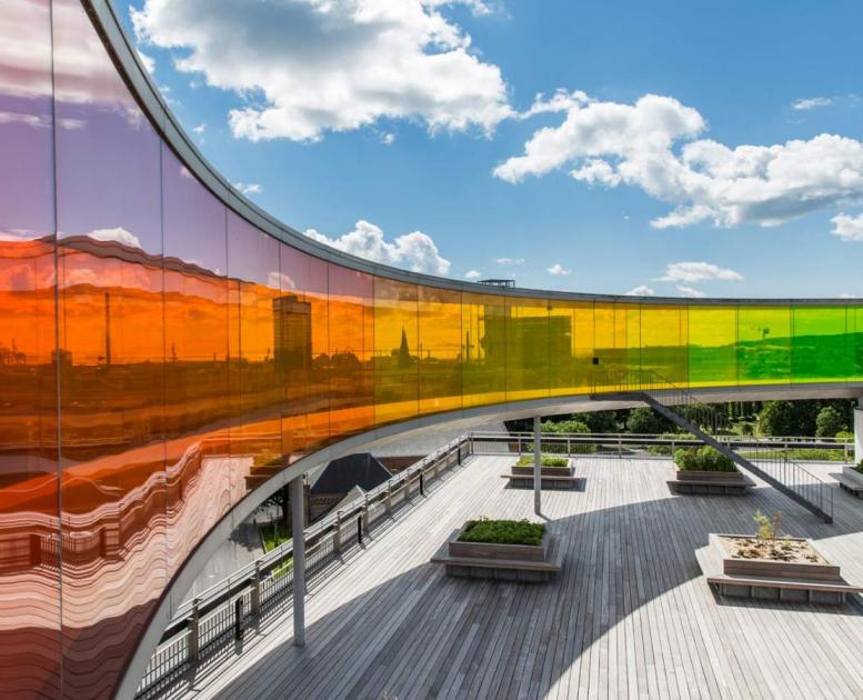 Your rainbow panorama at the top of ARoS Aarhus Artmuseum