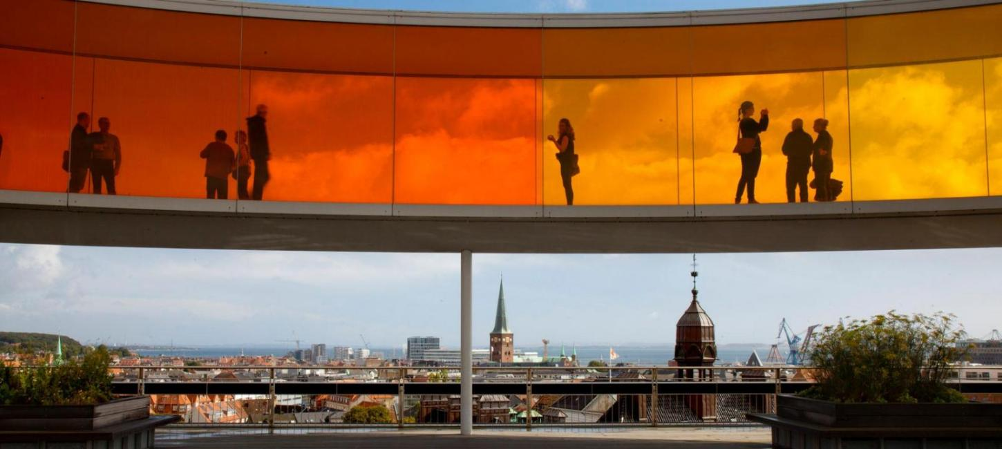 Your rainbow panorama at the top of ARoS Aarhus Art Museum