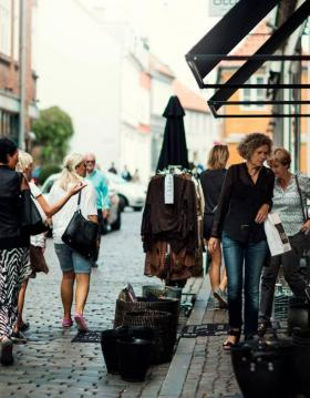 Shopping in the Latin Quarter in Aarhus